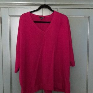 Stunning Eileen Fisher fuchsia sweater